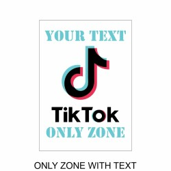 tiktok poster ONLY ZONE WITH TEXT