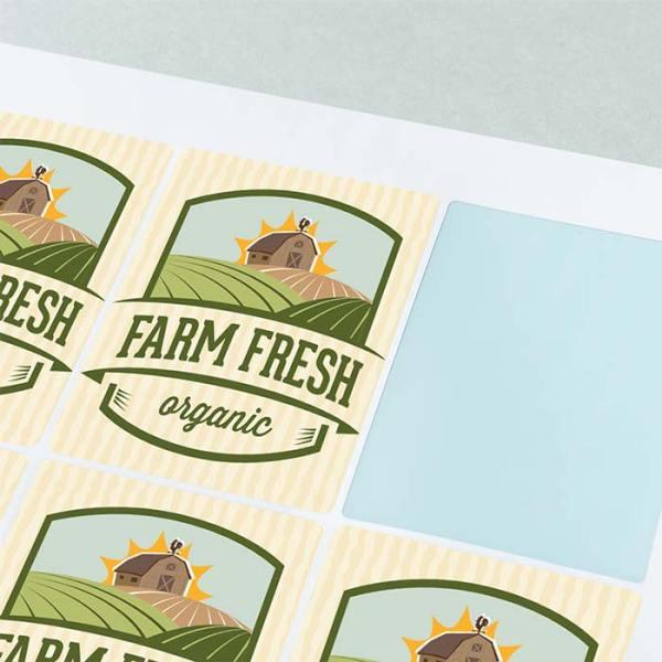 Sticker on sheet