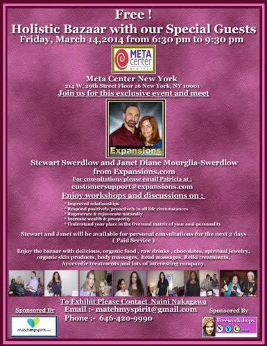 To join this healthful event, contact Naini at matchmyspirit@gmail.com