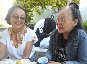With Ninotchka Rosca, a political buddy since Marcos time.