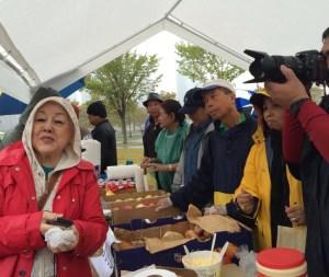 On community service despite the rain.