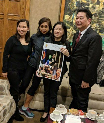 Fil-Am Media Spends Relaxing Merienda Break with Outgoing Consul General