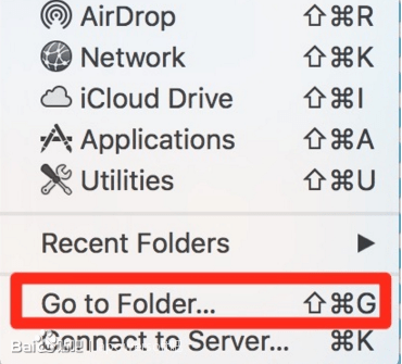 选择红色标记部分(Go to Folder)