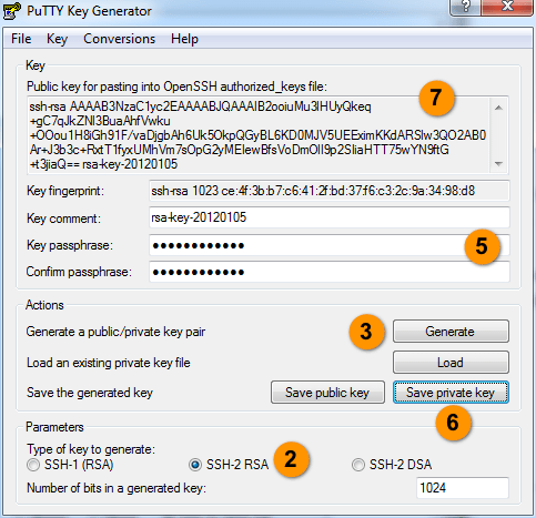 Windows下手动生产 SSH Key, PuTTY集成ssh key, windows下生产RSA密钥, 生成ppk密钥, Manually generating your SSH key in Windows