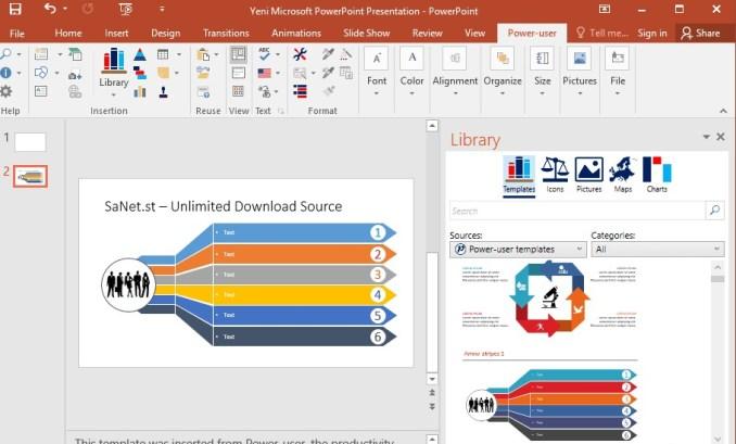 微软Office增强插件:让Office如虎添翼,Power-user Premium 包含模板、图标、图表、地图和图表的深度库