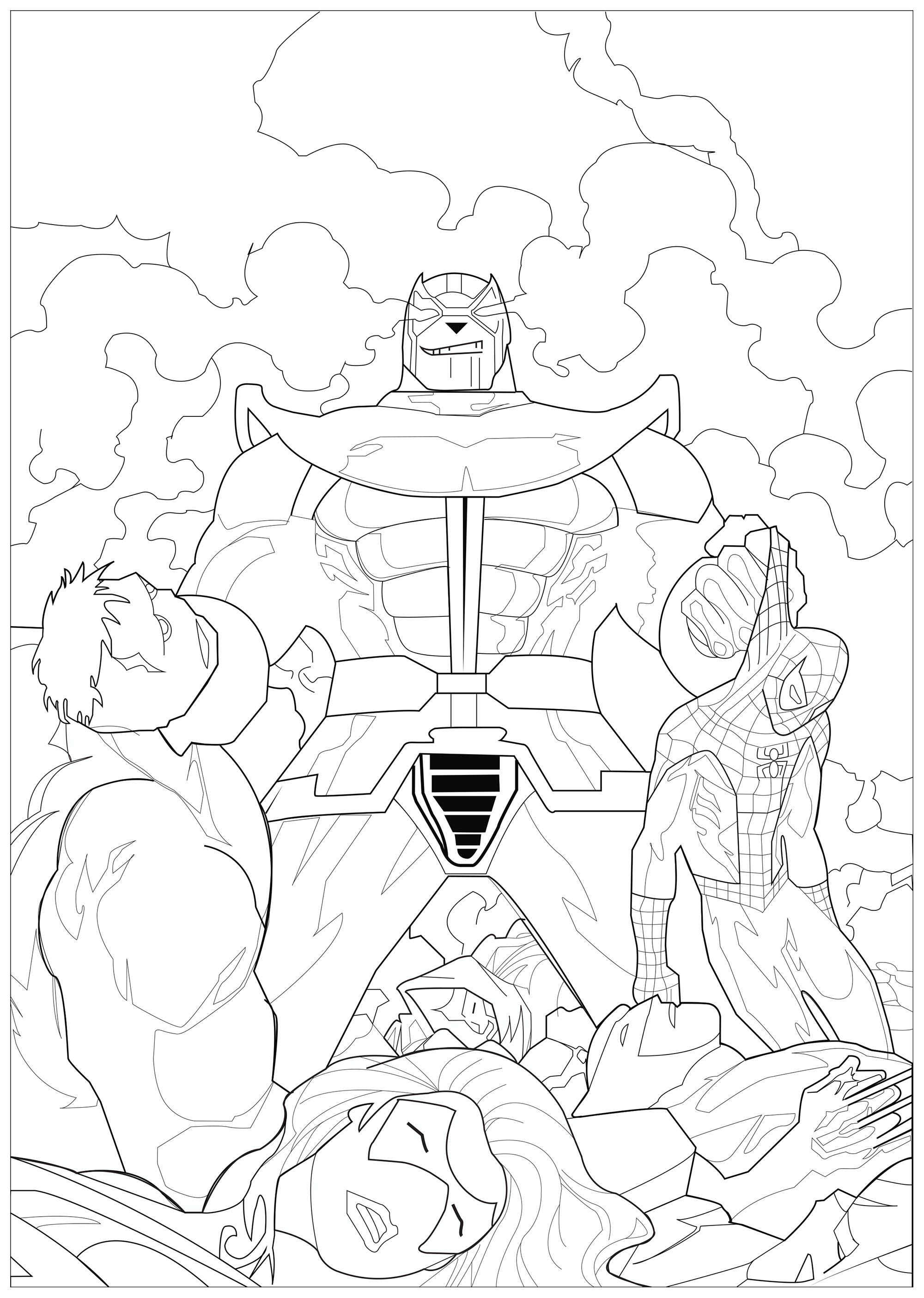 Spiderman Vs Rhino Coloring Pages   Novocom.top