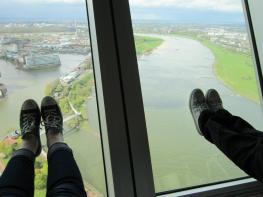 Standing on the view in Düsseldorf, Germany