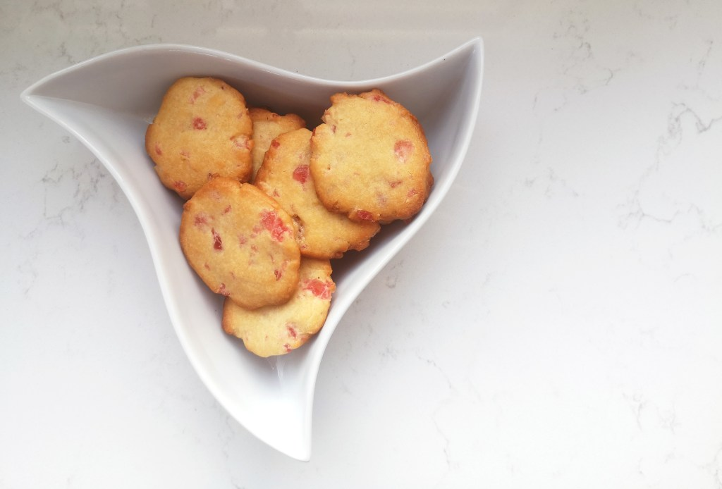 Chewy Cherry Biscuits