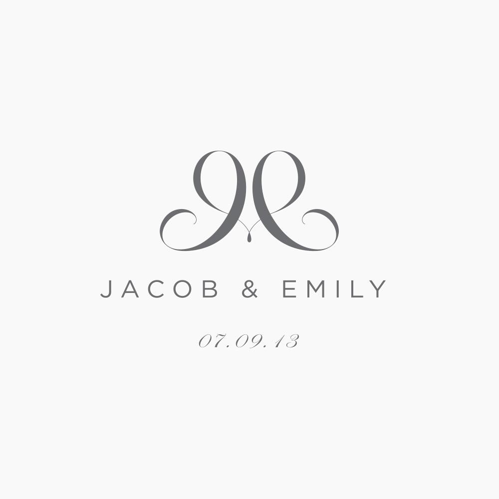 JampE Wedding Logo JUST Creative
