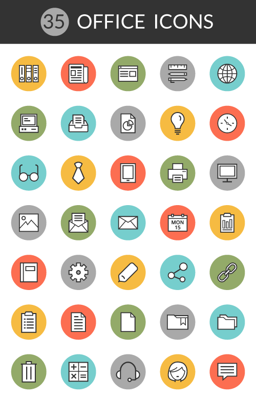 Download 4 Exclusive Free Icon Packs for Download - Office, Weather ...