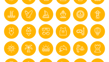 4 Exclusive Free Icon Packs for Download - Office, Weather