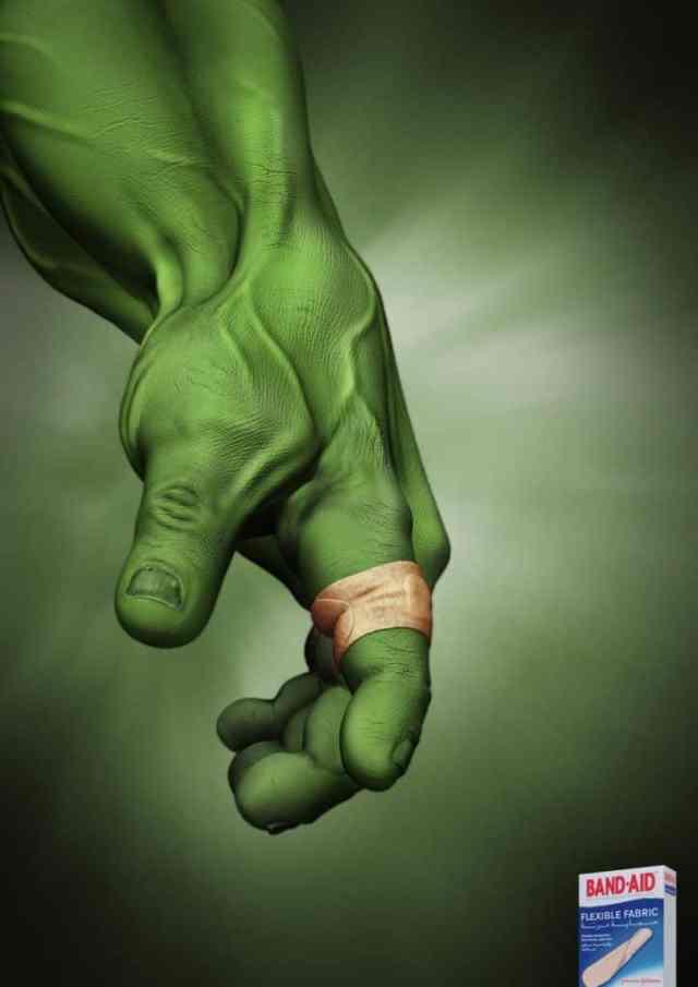 Creative advertising poster- Hulk