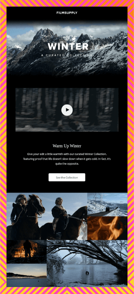 Phantasmagoric Collage - Email Design Trends 2021