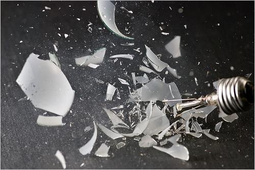 Smashed lightbulb - Photo © Kyle May