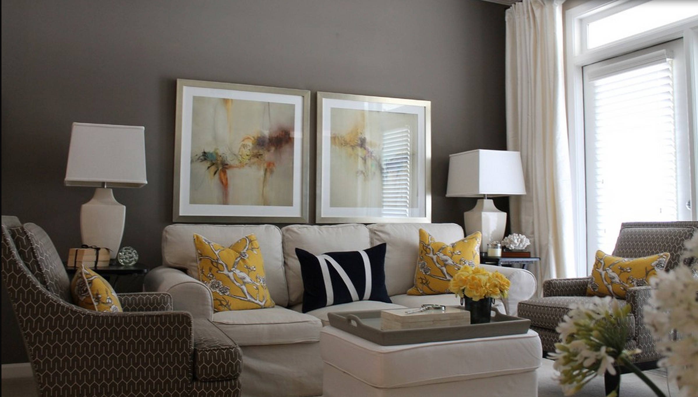Yellow Grey Cream Living Room. 10 beach backsplash ideas sand and ...