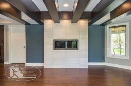 ceiling beams contemporary-basement