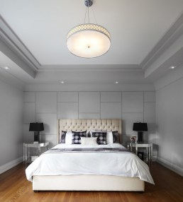 Elegant tray ceiling with molding