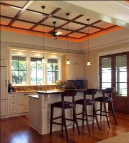 low profile contemporary ceiling design