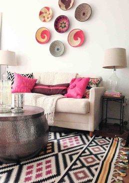 A great rug with pattern infuses color and pattern interest