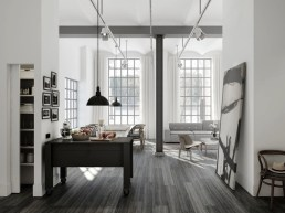 Grey stained floors