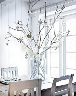 Love the glass ornaments which brings out the use of the glass