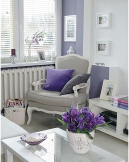 Pops of Radiant Orchid on grey