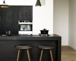 Black kitchen cupboards