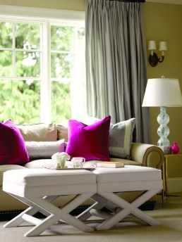 Use just a few Radiant Orchid accents