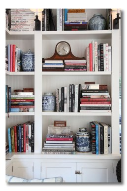 Diagonal shelf styling