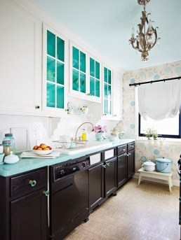 Interior cabinetry in mint