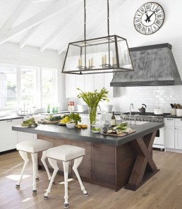 kitchen concrete island counter