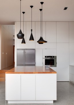 Modern uniquely shaped pendent lighting