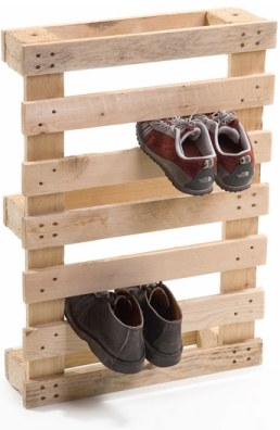 Think about installing this DIY shoe rack from floor to ceiling