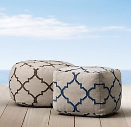 Outdoor poufs - put your feet up or use as extra seating