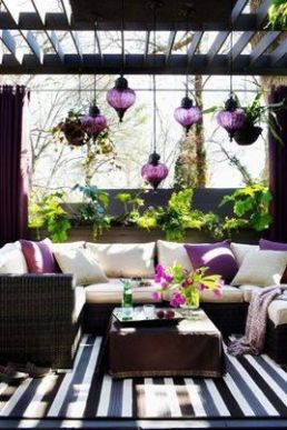 Colored Moroccan hanging lights