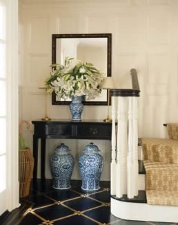Chinoise vase and ginger jars