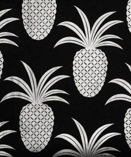 black and whitenpineapple_wallpaper