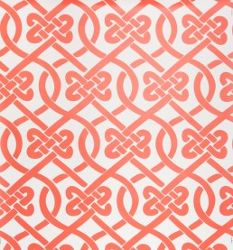 Chinese inspired knot wallpaper