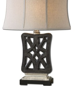 Intricate Chinese knot inspired lamp