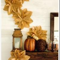 Brown Paper Flowers Tutorial