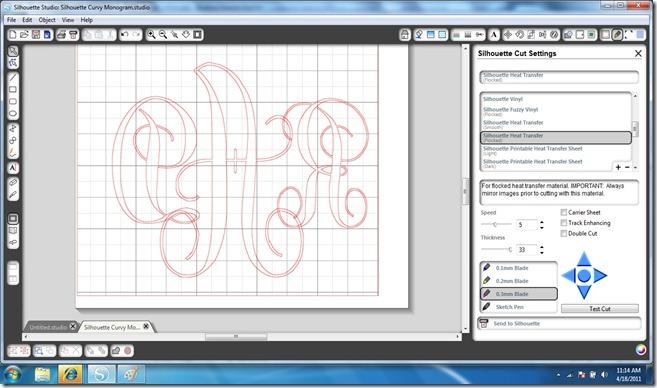 Silhouette Monogram 3