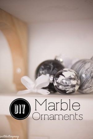 Faux Marble Ornaments DIY