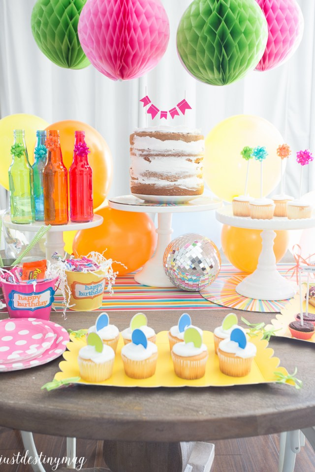 Summer Birthday Party Colors - Just Destiny_