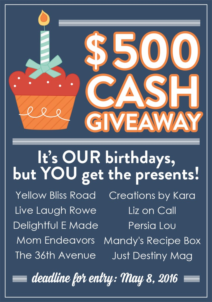 $500 Giveaway 2