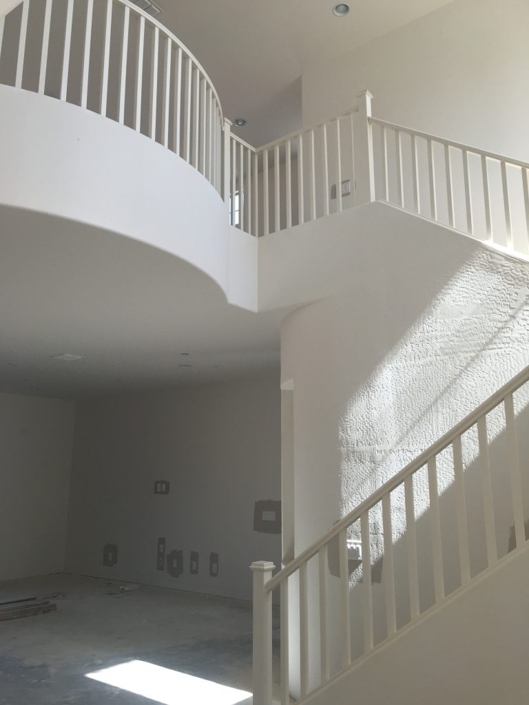 The Best Way To Paint Your Stair Rails Black Just Destiny   White Handrails For Stairs Interior   Indoor   House   Exterior   Spiral   White Metal