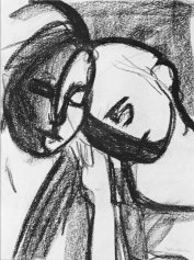 """""""Friendship,"""" charcoal on paper, 16 x 12"""" - SOLD"""