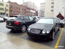 Bentley Continental Flying Spur and Porsche Cayenne