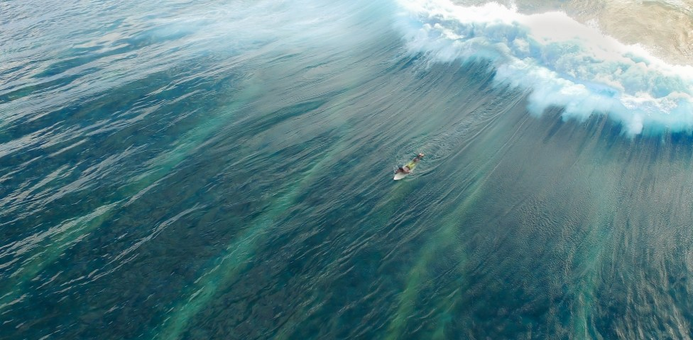 Surfer Captured From Above