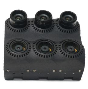 A user can easily customize their MAPIR Kernel camera array. Seen here are three color and three black and white sensor modules.