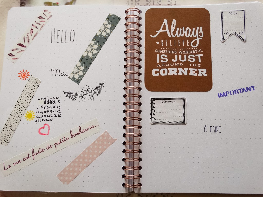 Bullet Journal : Setup de Mai